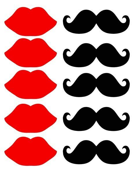 free printable mustache and lips photo booth props mustache and lips printable cut out sheet it s free