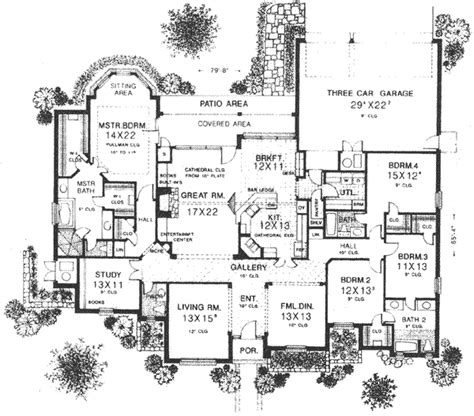 monster floor plans english country style house plans 3262 square foot home