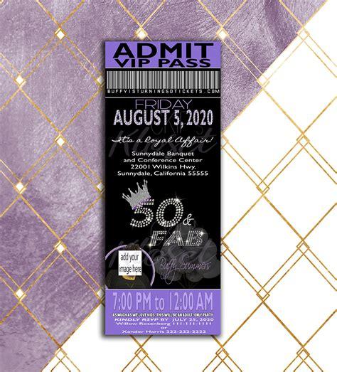 birthday party invitation ticket invitation vip pass