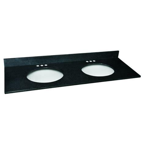 design house granite vanity top design house 553289 black pearl granite 61x22 double bowl