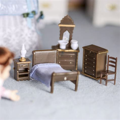 dollhouse miniature bedroom furniture set new items