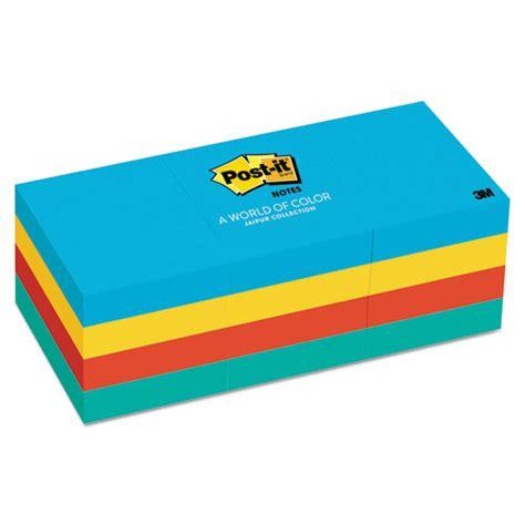 Paper Ink Stick Label Post Its Memo Tempel Kecil post it notes original pads in jaipur colors 1 1 2 x 2 100 sheet 12 pack