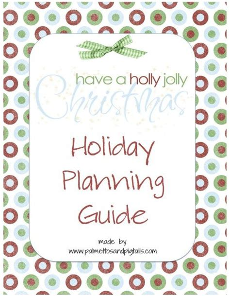 free printable christmas planner set stay organized this 17 best images about palmettos and pigtails on pinterest