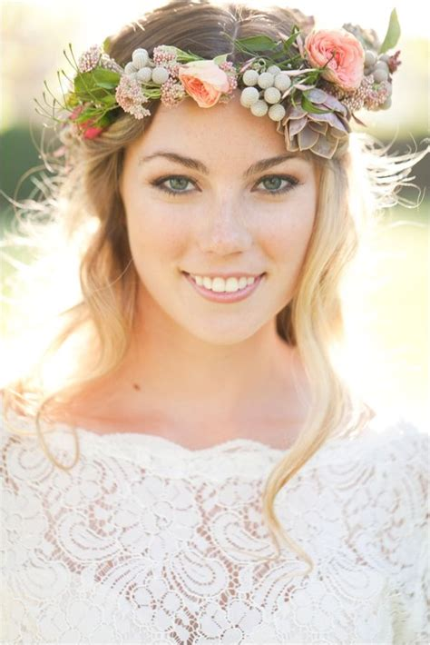 wedding flower crown for bride 3 fashion amp trend