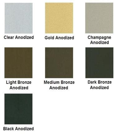 anodized aluminum colors factory finishes flannery trim