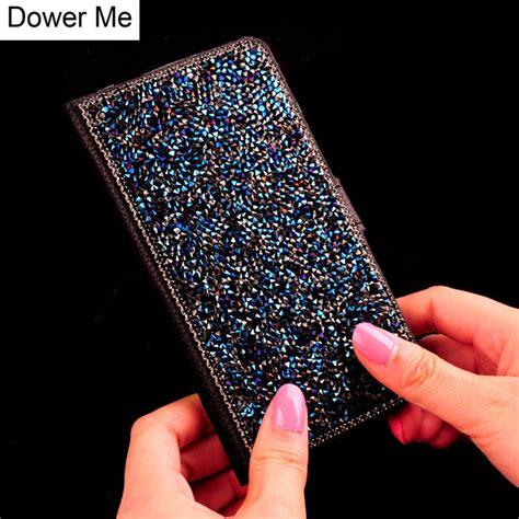 dower  bling glitter diamond stand wallet flip leather case  samsung galaxy