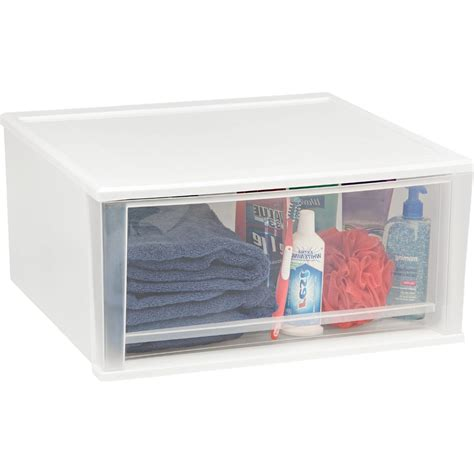 stackable plastic storage drawers white in storage drawers