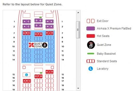 airasia virtual air asia x airline introduces quiet zone on flights