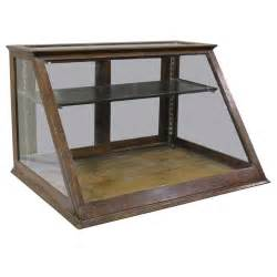 Table Top Glass Display Case Antique Oak Counter Display Cabinet Showcase At 1stdibs