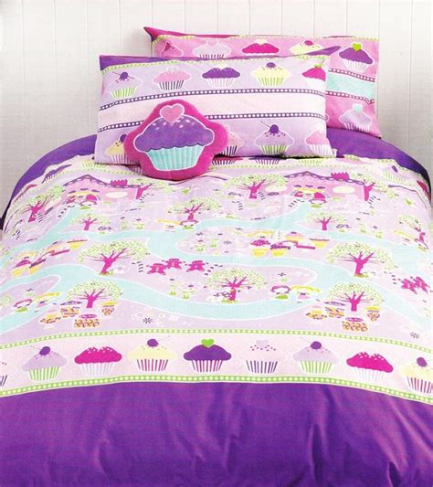 cupcake quilt cover set sweets candy girls kids