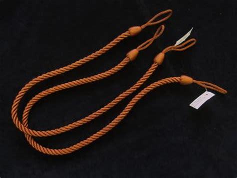 drapery tiebacks cord 2 rope curtain tiebacks rust slender slinky cord drape