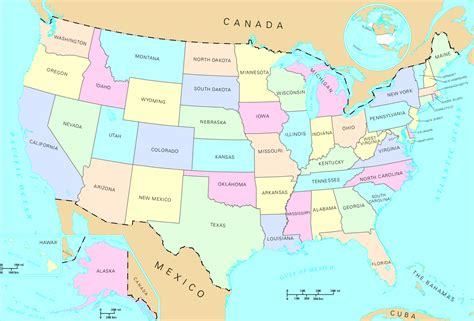picture of america map state map
