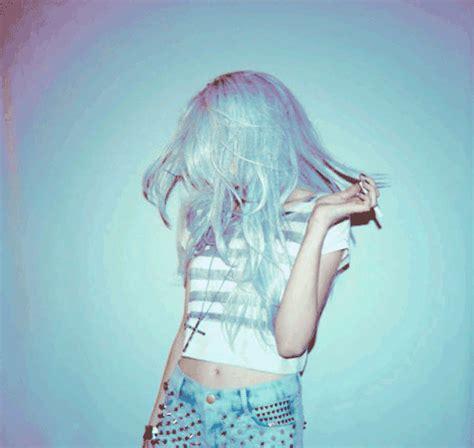 hipster art gif tumblr hipster girl blue hair gif wifflegif