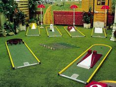 backyard mini golf game mini golf obstacles party golf pinterest minis and golf