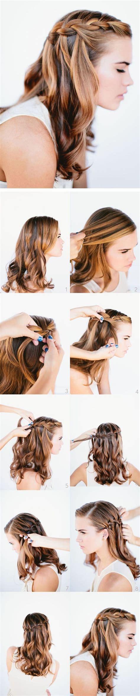 tutorial waterfall braid waterfall braid tutorial hair cooperate pinterest