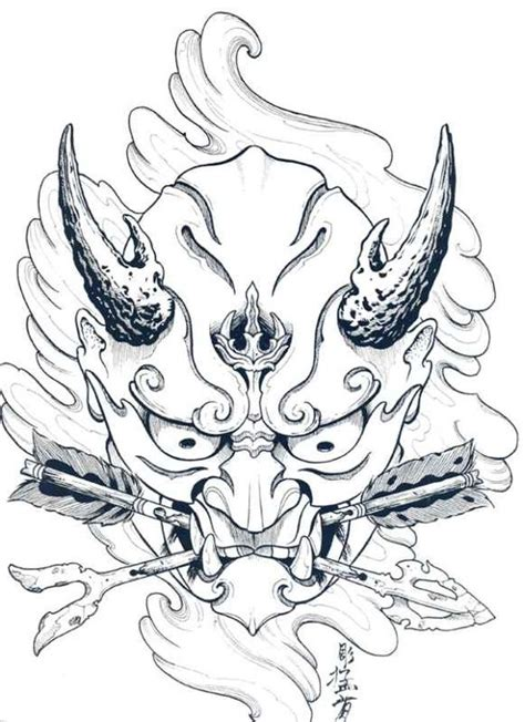 tattoo japanese outline japanese hannya mask tattoo designs by horimouja outline