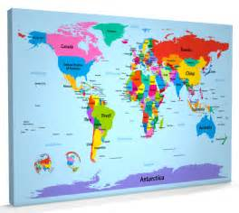 Map Of The World For Kids by World Map For Children Images