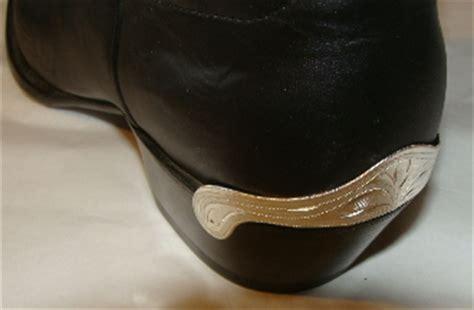 medium laser etched silver cowboy boot heel guards