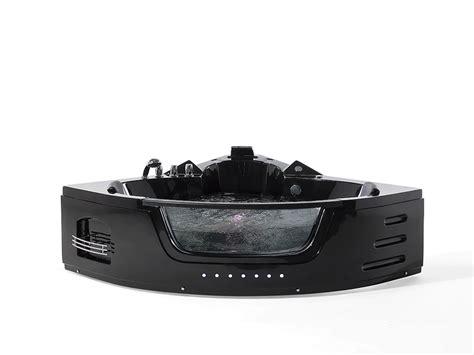 vasca da bagno nera vasca da bagno nera con illuminazione led e idromassaggio