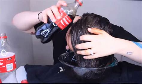rinsing hair with coke this girl rinses her hair with coca cola why she does it