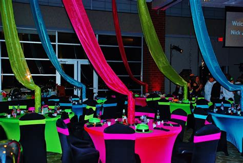 neon themed events neon party decorations party favors ideas