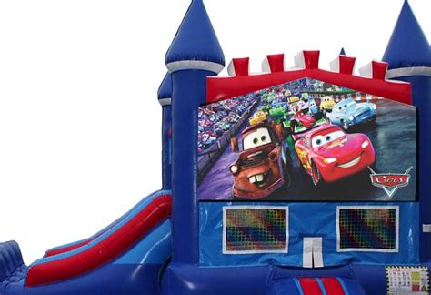 cars bounce house destination events cars bounce house with slide destination events