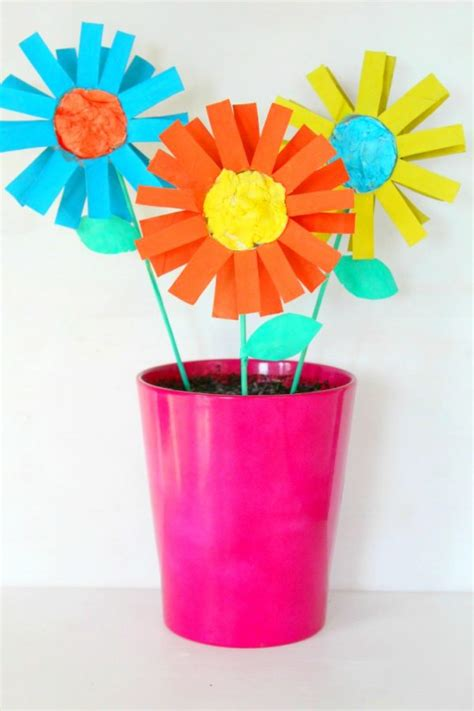 colorful cardboard tube flowers fun family crafts