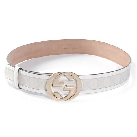Gucci White gucci monogram gg belt 85 34 white 49663