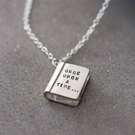 once upon a time silver story book necklace by bug