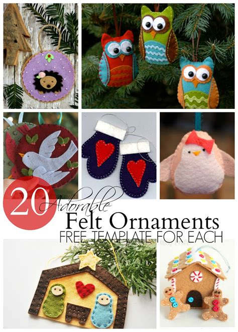 feltnmchristman fre patterns to print 20 adorable felt ornaments do small things with great