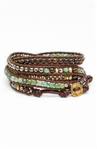 leather beaded wrap bracelet chan luu beaded leather wrap bracelet nordstrom