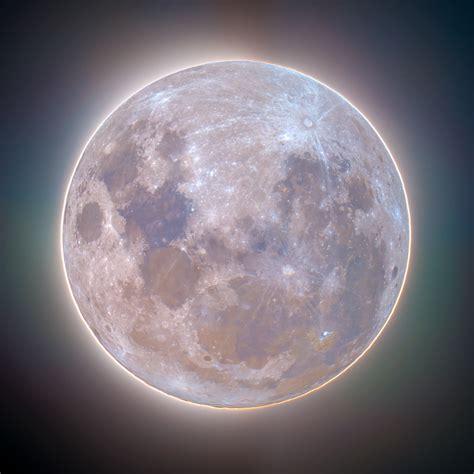 luminous supermoon corona  full colour deography