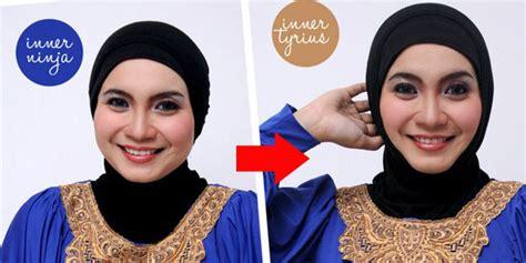 tutorial wajah tirus fashion tips hijab wajah lebih tirus dengan tyrius inner