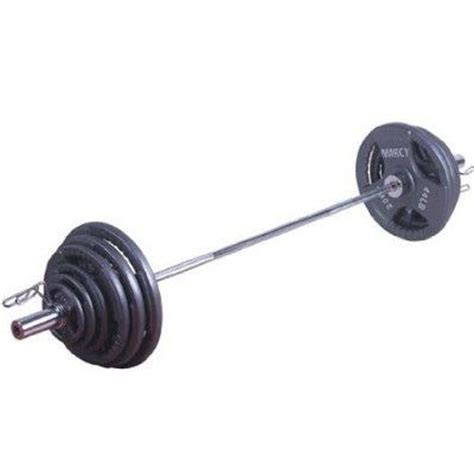 Barbell 2 Kg marcy 140kg olympic tri grip barbell set sweatband
