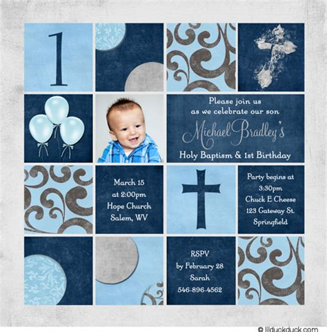 First Birthday And Baptism Invitations Dolanpedia Invitations Ideas 1st Birthday And Christening Invitation Templates