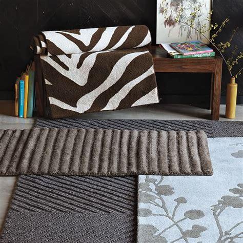 zebra rug west elm