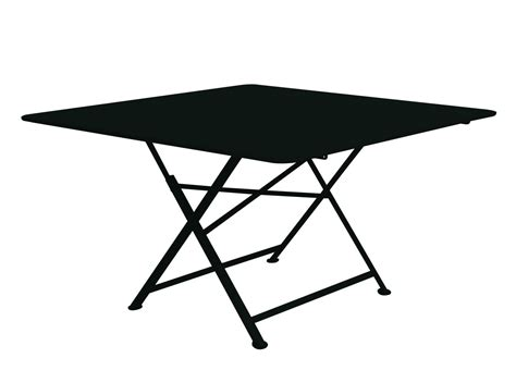 table fermob cargo cargo foldable table 128 x 128 cm liquorice by fermob