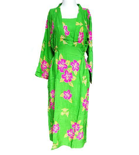 Baju Daster Batik Lengan Panjang daster batik lengan panjang bunga kamboja hijau toko grosir termurah
