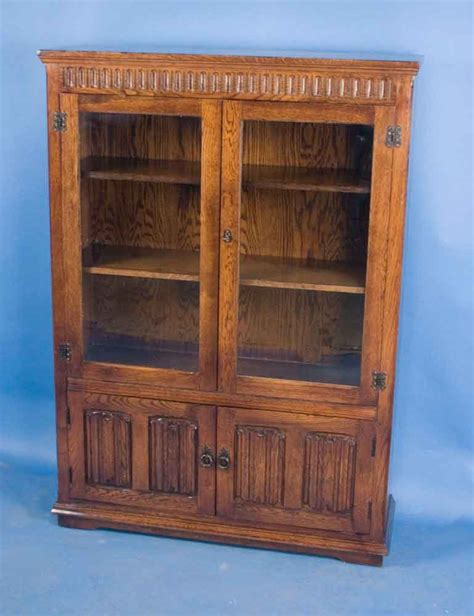 oak linenfold bookcase for sale antiques classifieds