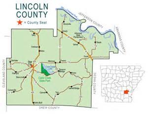 lincoln county map encyclopedia of arkansas