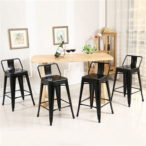Outdoor Bar Stools Set Of 4 low back indoor outdoor counter height stools set of 4