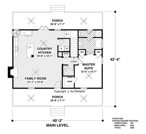 cottage homes floor plans the greystone cottage 3061 3 bedrooms and 2 baths the house designers