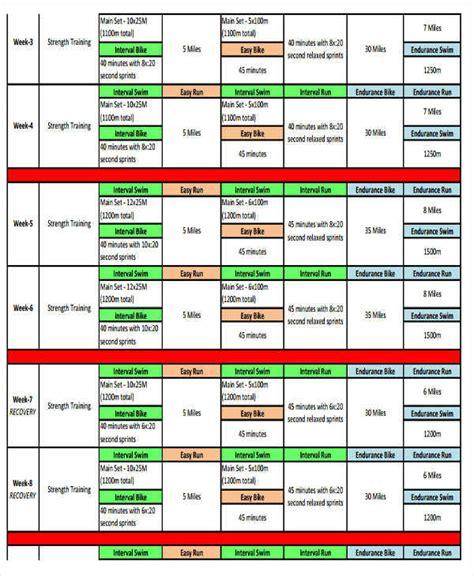 triathlon calendar template 35 printable calendar sles templates pdf doc