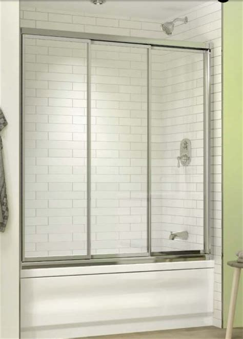 Bathtub Enclosures Shower Doors Toronto Three Panel Shower Door