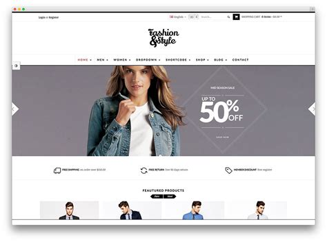 Template Loja Pmsites Clothing Brand Website Template