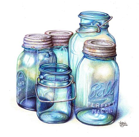 how to color jars jar coloring pencil and in color