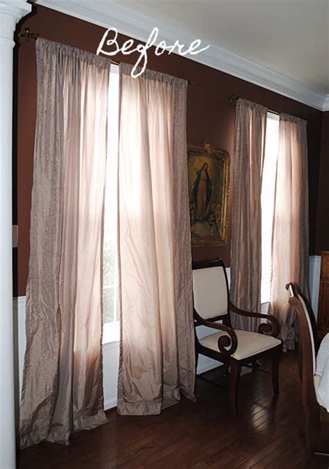 Diy Dining Room Curtains New Curtains For The Dining Room The Graphics