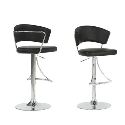 black and chrome bar stools 28 quot hydraulic lift bar stool in black and chrome i 2300