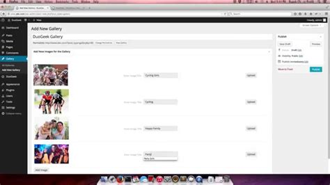 wordpress tutorial gallery simple image gallery wordpress plugin tutorial youtube