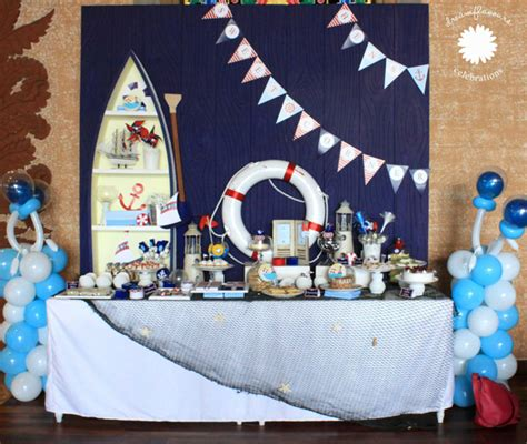 Sailor Decorations by Kara S Ideas Sailor Birthday Planning